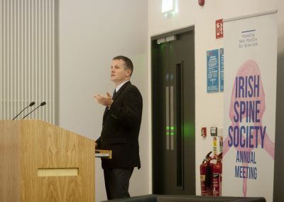 John Carey speaking at the Irish Spine Society's Annual Meeting, held at NUI, Galway.